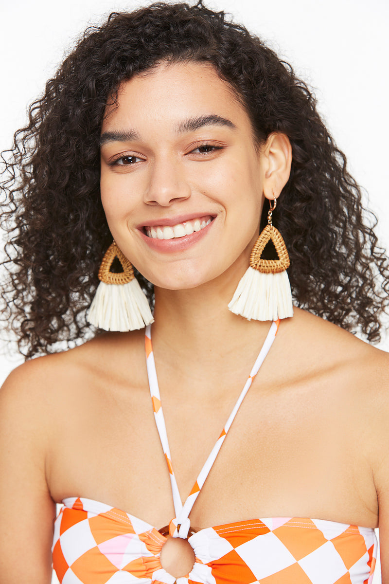 Statement Triangle Boho Ratten Earring