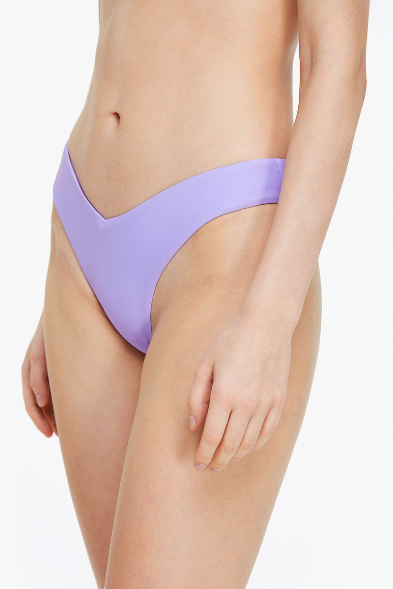 Sexy Purple V-Cut Front Bikini Bottom