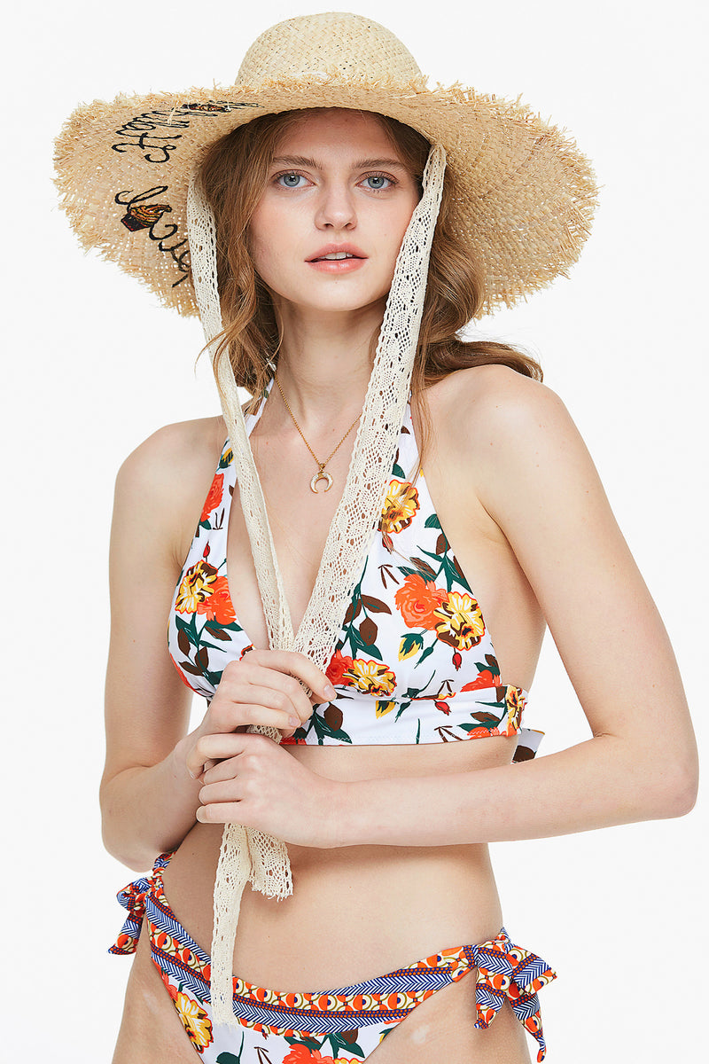 Happy Holiday Sun Straw Hat