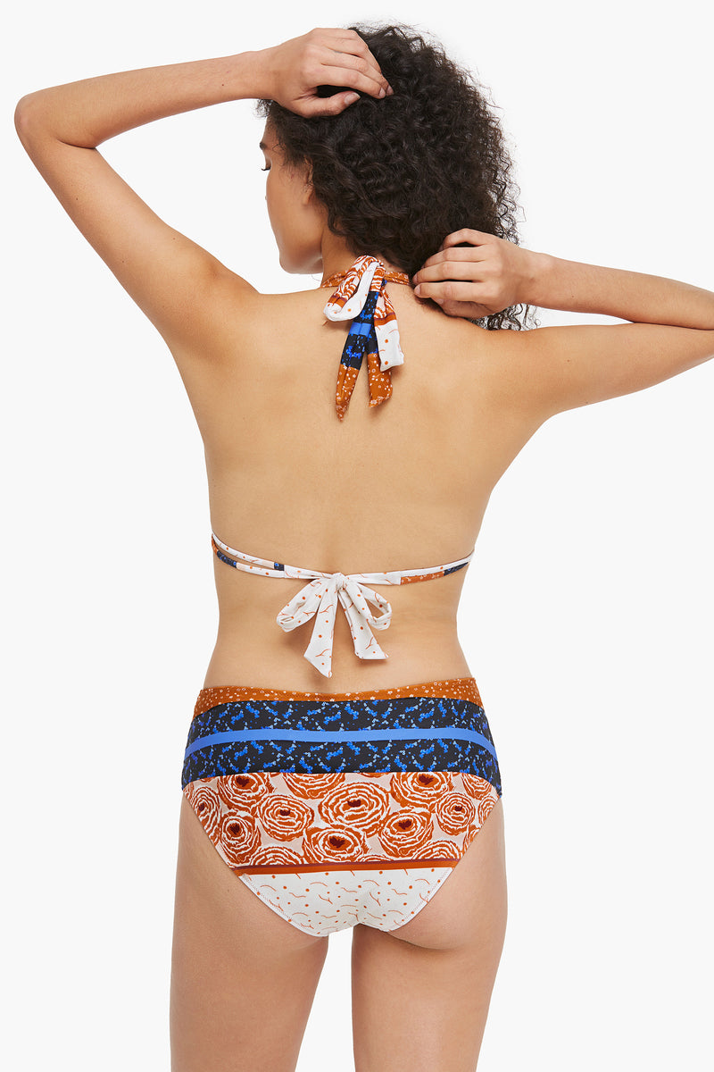Abstract Print Triangle Bikini Set