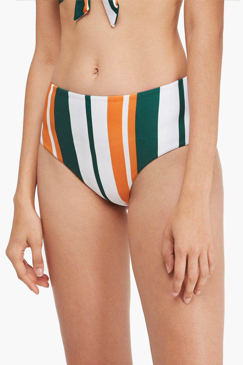 Front-knot Striped Bikini Bottom