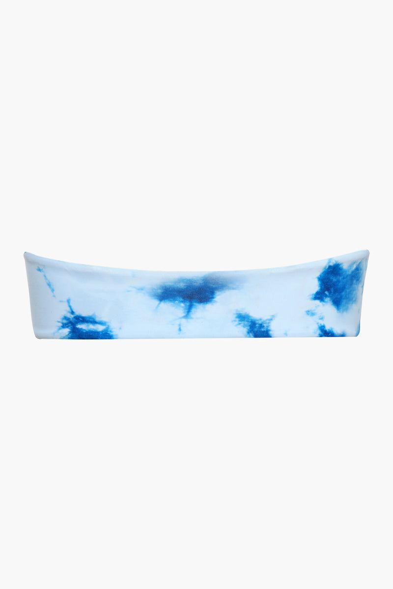 <Punchy Tie-dye>Bandeau & Drawstring High-cut Bikini Top