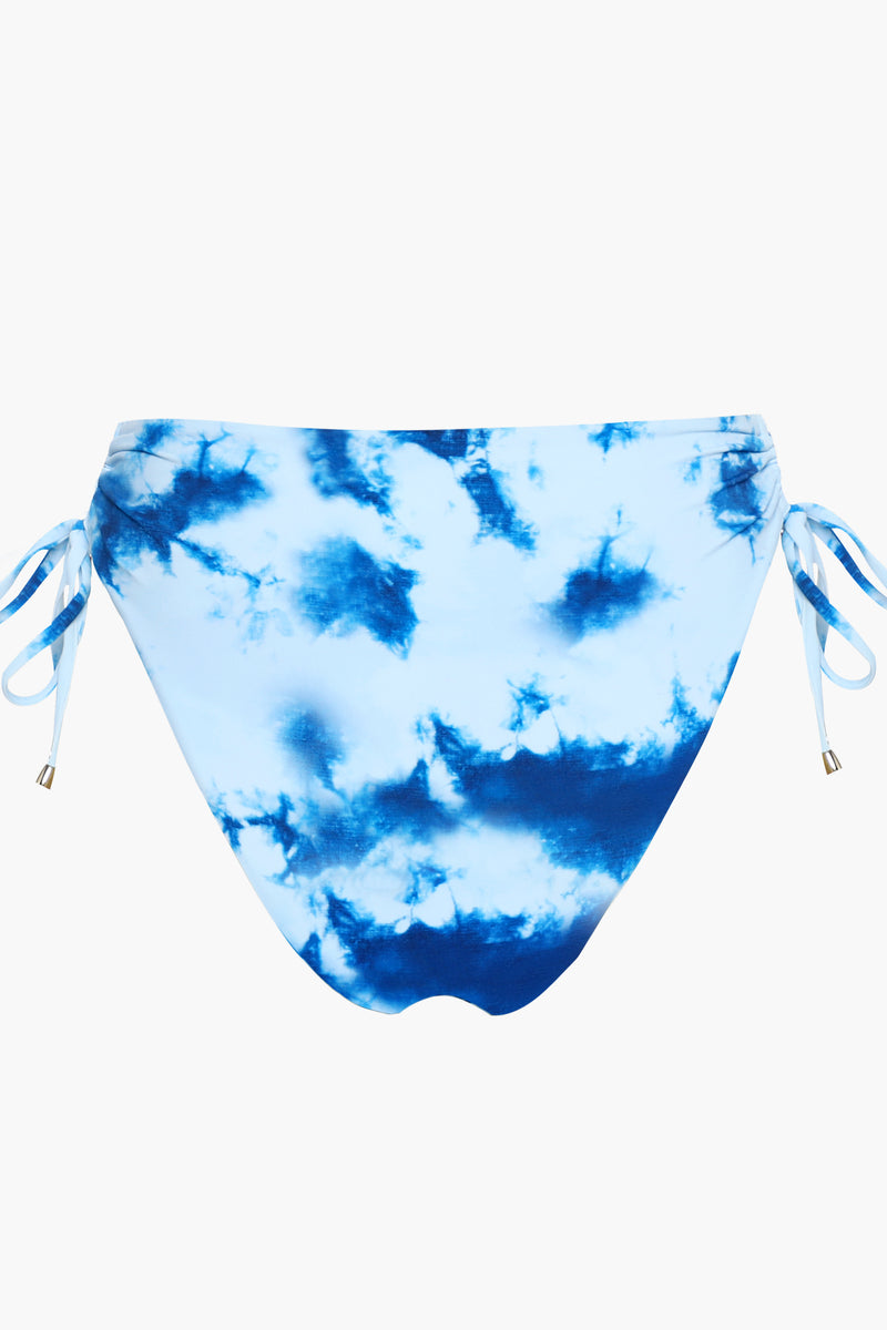 <Punchy Tie-dye>Drawstring High-cut Bikini Bottom