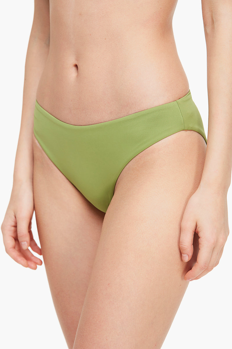 Twisted Front Wide Strap Bikini Bottom
