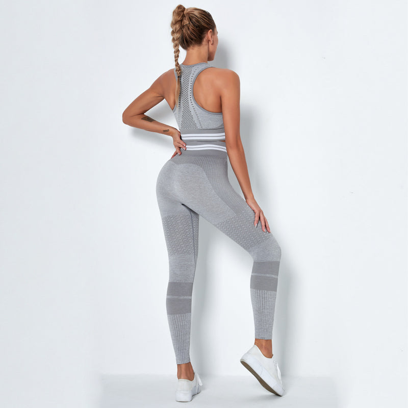 Unlimit Stripe Sporty Yoga Set