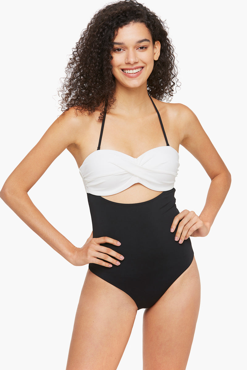 Two-tone Colorblock Molded Cup One Piece