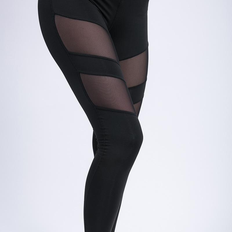 Meshed High Waist Yoga Legging