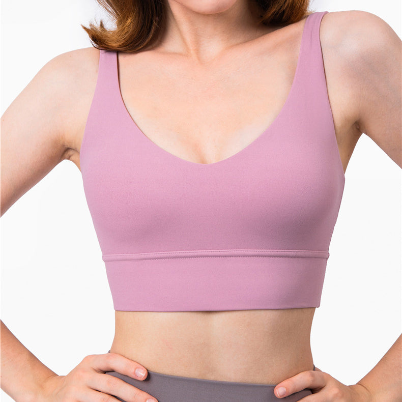 Feel To Be Free V Neck Sports Bra
