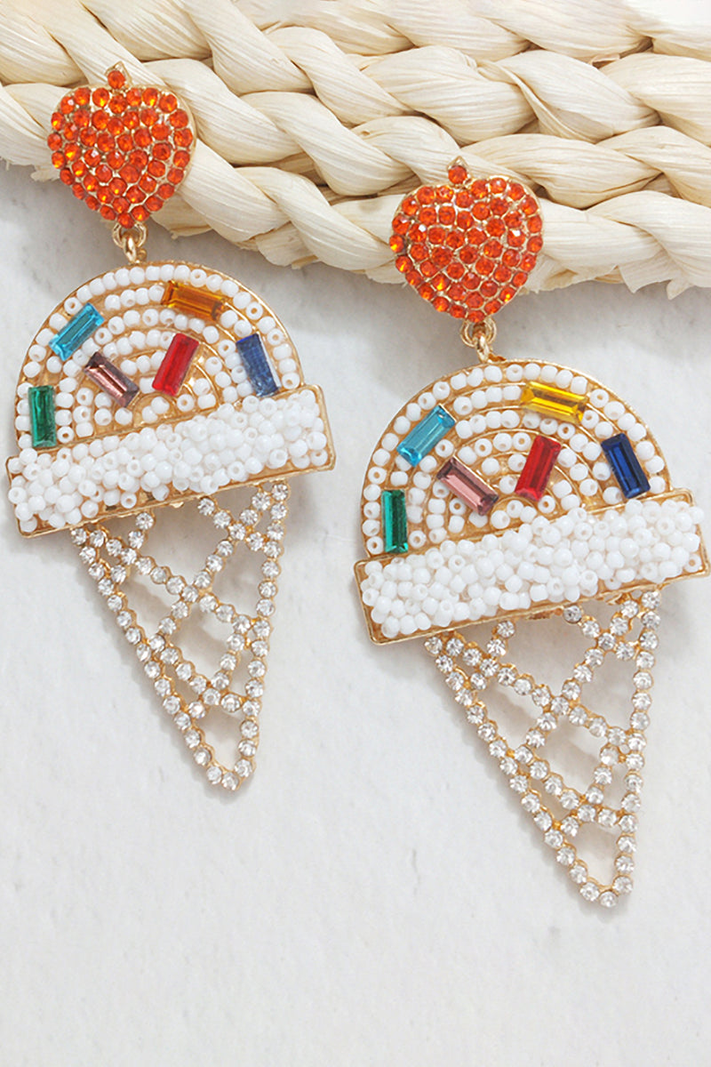 Beaded Hoop Ice cream Earring