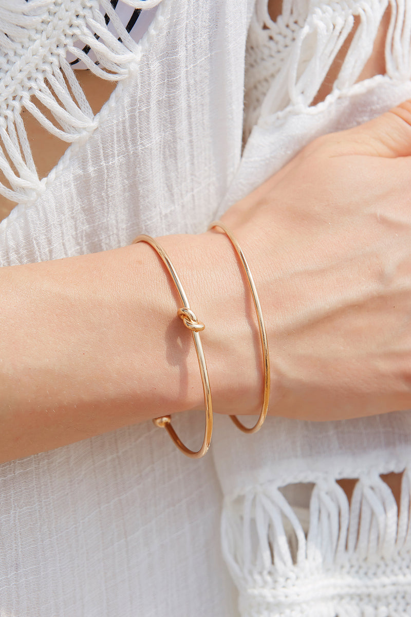 Heart & Knot Layered Bracelet