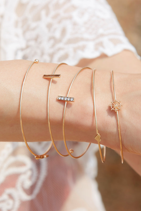 Heart & Arrow Layered Bracelet