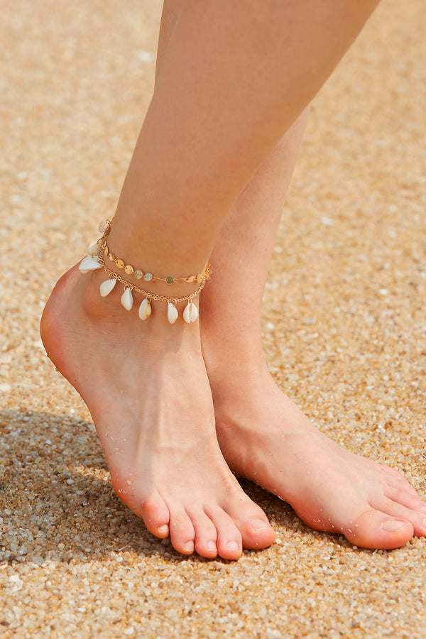 Bohemian Shell Anklet Set