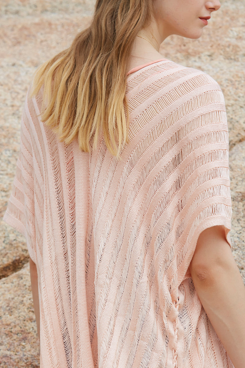 Knitted Loose Side Splits Cover up