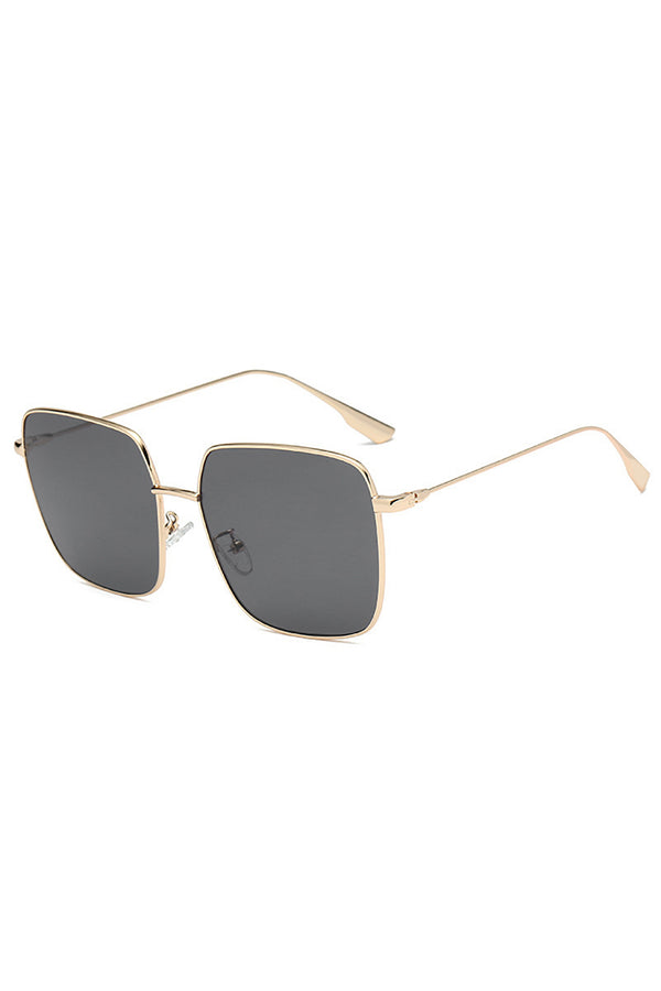 Square Metal Golden Frame Sunglasses