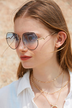 Modern Shape Tinted Sunglasses