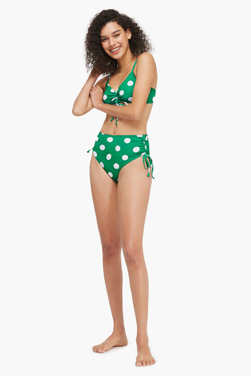 Retro Green Polka Dot  Bikini Set