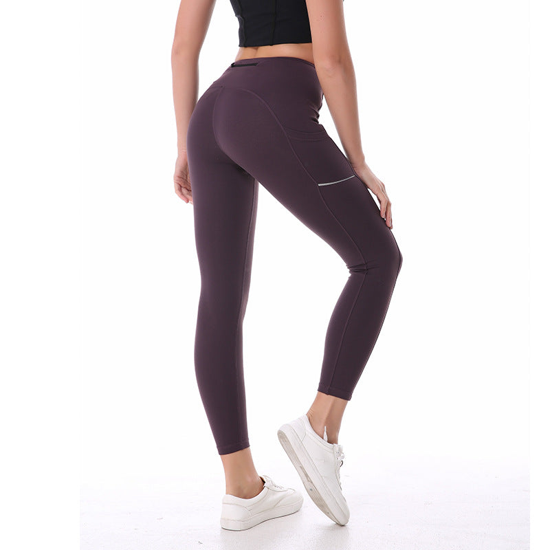 Shiny Paneled High Waist Sculpt Legging