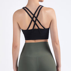Feel To Be Free Round Neck Sports Bra