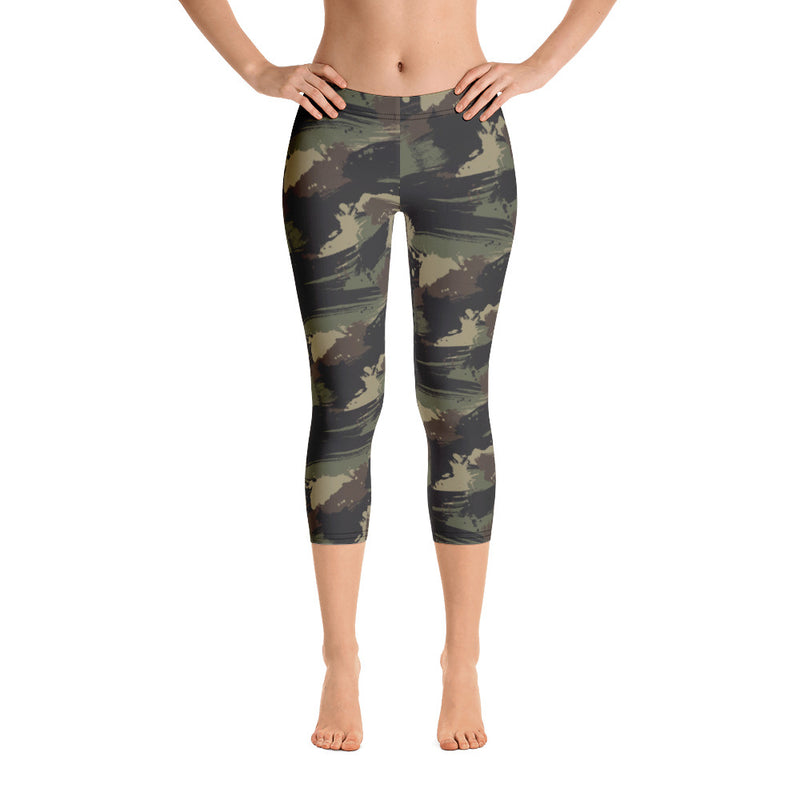 """Forest Camo"" Cropped Leggings"