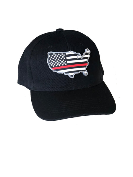 Thin Red Line PVC Patch Hat