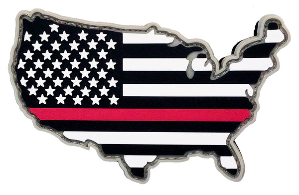 Thin Red Line America PVC Patch