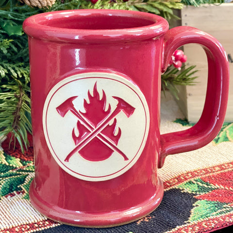 Red Flame & Axes Mugs