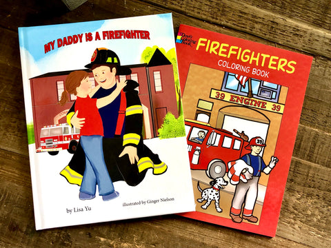 My Parent is a Firefighter Book & Firefighters Coloring Book Combo Pack