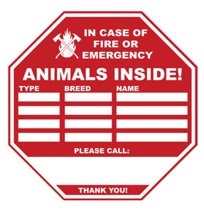 Pet Alert Stickers in Bulk (Pack of 25)