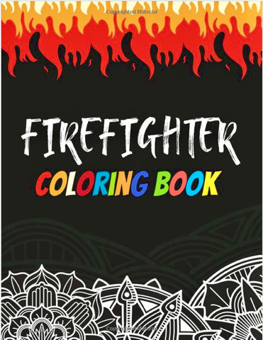 Adult Firefighter Coloring Book