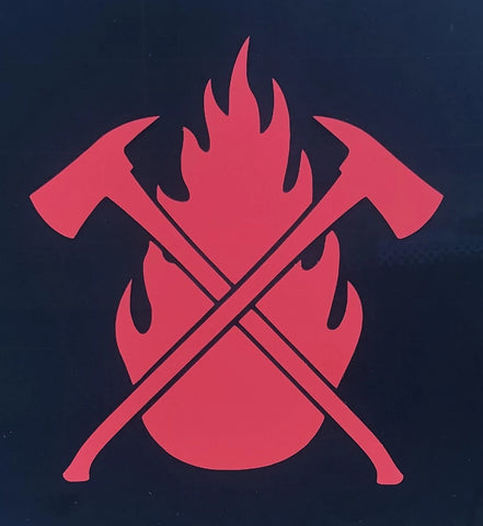 Flame & Axes Transfer Sticker / Decal