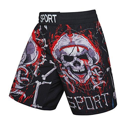 Bayram® MMA Shorts zum Trainieren | Herren Kurze Trainingshose für Kampfsport | Kick-Boxing, UFC MMA, Grappling, Boxen, Käfig, Muay Thai, Freefight M L XL XXL - in Verschiedenen Designs