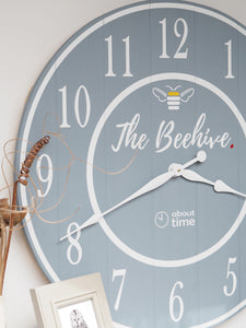 Extra Large Personalised Logo Wooden Wall Clock