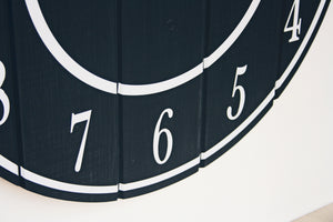 Large Wooden Wall Clock in Black - Ask about personalisation