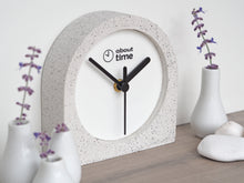 Load image into Gallery viewer, Jesmonite Carriage Clock in Silver-Grey Granite