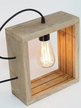 Load image into Gallery viewer, Reclaimed Oak Edison Lamp
