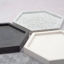 Load image into Gallery viewer, Hexagonal Concrete Jewellery/Planter Tray