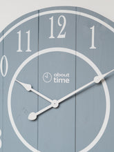 Load image into Gallery viewer, Large Wooden Wall Clock in Blue-Grey