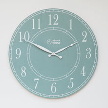 Load image into Gallery viewer, Large Wooden Wall Clock in Sage