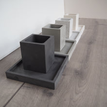 Load image into Gallery viewer, Square Concrete Mini Pot & Tray