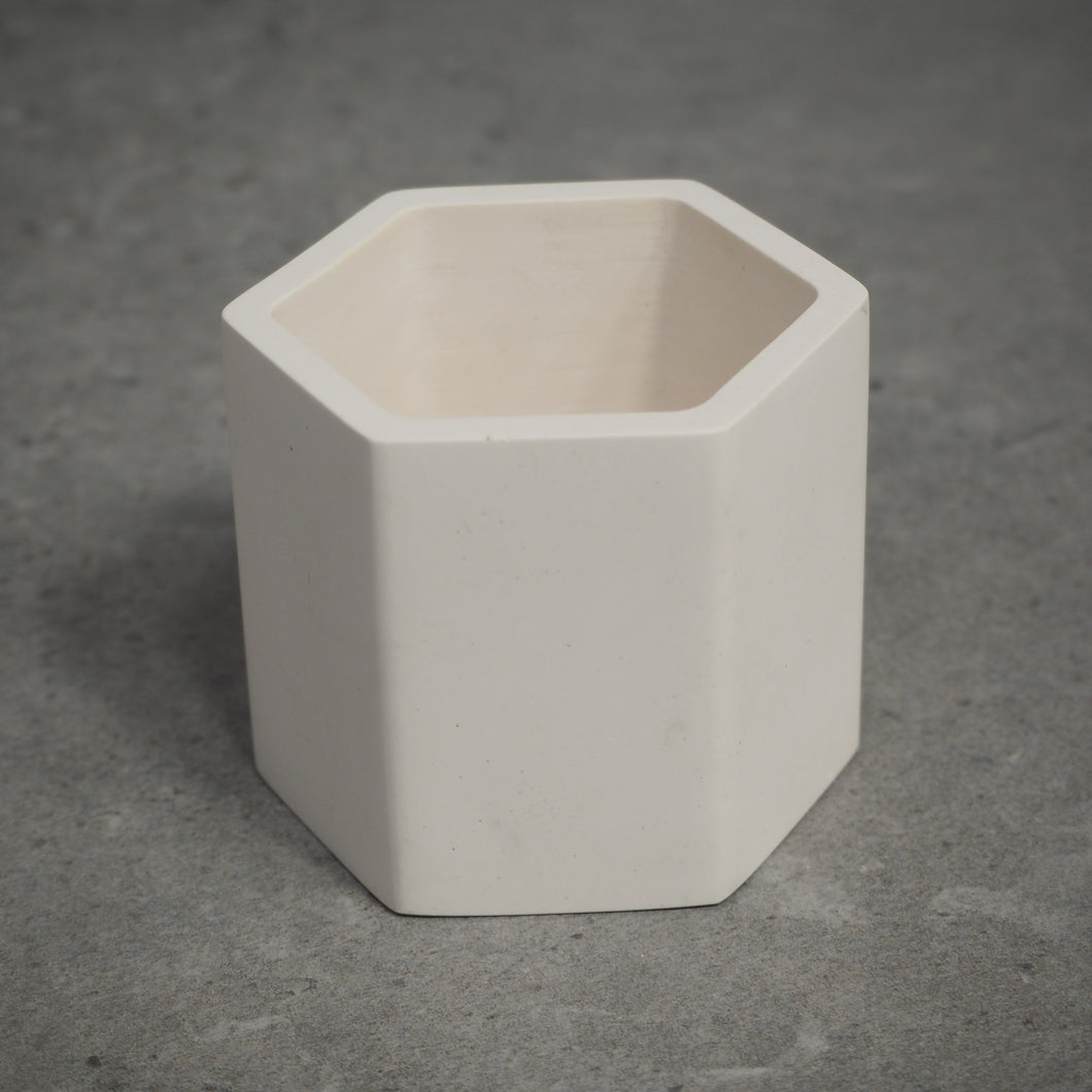 75mm Hexagonal Concrete Pot
