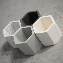 Load image into Gallery viewer, 75mm Hexagonal Concrete Pot