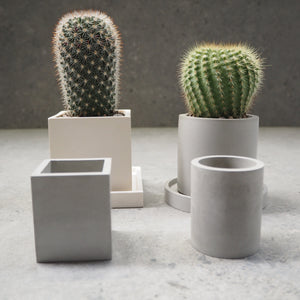 75mm Square Concrete Pot