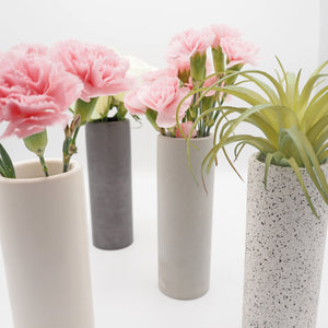 Tall Cylindrical Concrete Vase