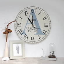 Load image into Gallery viewer, Large Wooden Personalised Wall Clock