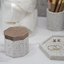 Load image into Gallery viewer, Octagonal Concrete Mini Pot & Hexagonal Tray