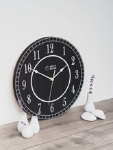 Load image into Gallery viewer, Medium Wooden Clock in All Black