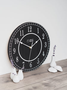 Medium Wooden Clock in All Black