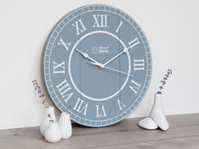 Load image into Gallery viewer, Medium Wooden Clock in Blue-Grey - Ask about personalisation