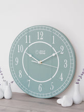 Load image into Gallery viewer, Medium Wooden Clock in Sage Green