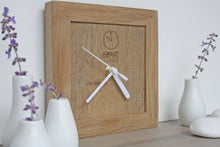 Load image into Gallery viewer, Square Wooden Oak Clock